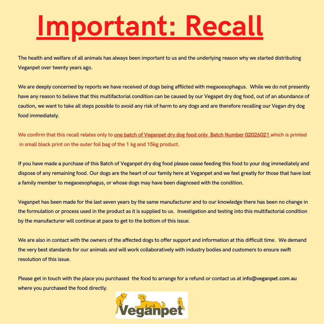 Recall Notice for Website